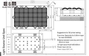 Image 5 - 3D מדפסת LED אולטרה סגול מקביל תאורה אחורית מודול קוורץ סיליקה ג ל עם בקרת לוח עבור 5.5 6 אינץ מסך צג DIY ערכת