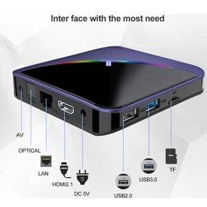 Image 3 - A95X F3 חכם טלוויזיה תיבת RGB אור אנדרואיד 9.0 Amlogic S905X3 4G 32G 64G Wifi BT סט למעלה תיבת Youtube 8 K 4 K Media Player