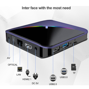Image 3 - A95X F3 Smart TV Box RGB Licht Android 9,0 Amlogic S905X3 4G 32G 64G Wifi BT Set top Box Youtube 8 K 4 K Media Player