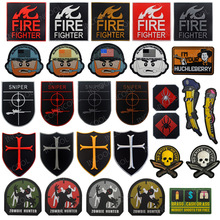 3D PVC Tactical Military Decorative Patches US America Flag Fire Fighter Emblems Sniper Rubber Badges for Jackets Clothes