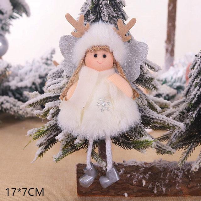 New Year 2020 Cute Santa Claus/Snowman/Angel Christmas Dolls Noel Christmas Tree Decoration for Home Xmas Navidad 2019 Kids Gift 183