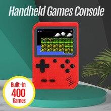 Новая видеоигровая консоль, встроенные 400 ретро классические игры, 3,0 дюймовый экран, Мини Портативная консоль, карманный портативный игровой плеер