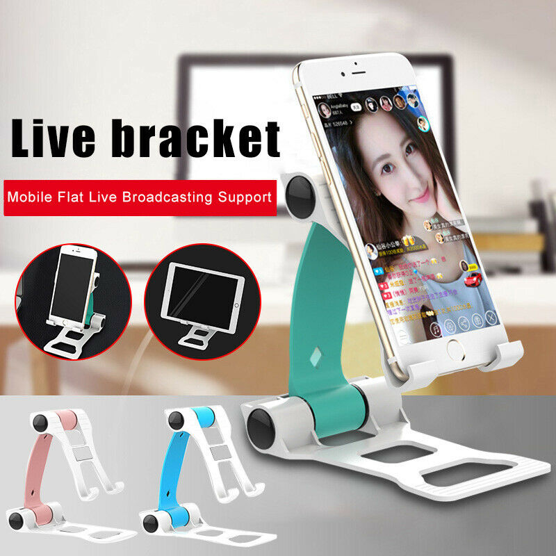 Live Phone Holder For IPhone 11 Pro Max XR XS Foldable Mobile Phone Holder For Samsung Desktop Tablet Stand For Xiaomi