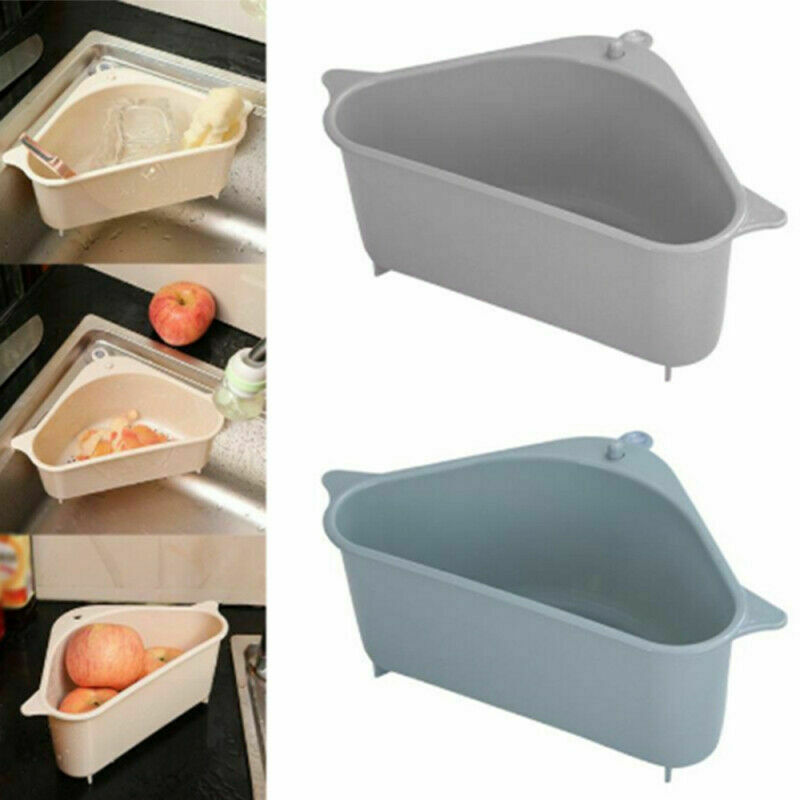 Soap Sponge Storage Holders Racks Triangle Sink Drain Shelf Kitchen Sink Shelf Drain Rack Bathroom Hanging Storage Holder Basket