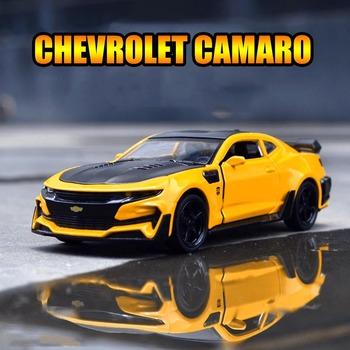 1 32 Diecasts i pojazdy zabawkowe Chevrolet Camaro zabawka samochód kolekcja modeli aluminiowe samochody zabawkowe dla dzieci prezent na boże narodzenie машинки tanie i dobre opinie Metal CN (pochodzenie) 3 lat Inne 1 32 no fire