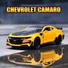 1/32 Diecasts i pojazdy zabawkowe Chevrolet Camaro zabawka samochód kolekcja modeli aluminiowe samochody zabawkowe dla dzieci prezent na boże narodzenie машинки