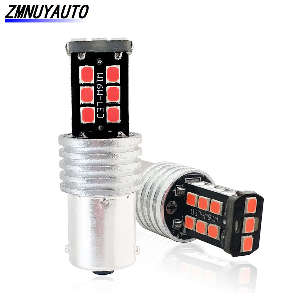 2x <font><b>Led</b></font> <font><b>Canbus</b></font> No Error BAU15S 1156 15SMD 2835 Auto Brake Lamp DRL Turn Signal Light <font><b>PY21W</b></font> BA15S Lamp P21W <font><b>Led</b></font> White Red Yellow 1 image