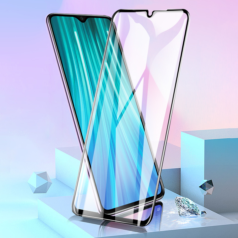 Tempered Glass For Xiaomi Redmi Note 8 Pro Screen Protector 2.5D 9H Full Glue Curved Screen Glass Film For Xiaomi Redmi Note 8
