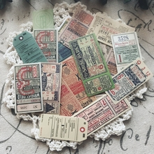 22Pcs/Pack Vintage European Ticket Label Sticker DIY Craft Scrapbooking Album Junk Journal Planner Decorative Stickers vintage airplane stamps paper environmental stickers decorative diy travel notebook planner sticker scrapbooking