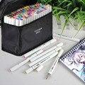 TOUCHNEW 30/80/168 цветов S эскизные Маркеры Набор ручек для рисования двойной наконечник кисть ручки для закладки манга школьная цветная ручка тов...