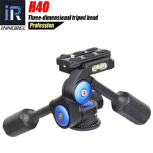 Innorel H40 Two Handle Hydraulic Damping 3D Three dimensional Tripod Head 360 Degree Rotation for Canon Nikon DSLR Camera