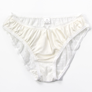 Image 2 - 2pcs/lot New Natural silk briefs lingerie underwear women transparent seamless lace sexy panties bragas mujer panty calcinhas