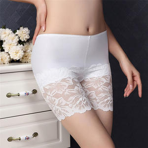 Pants Underskirts Elastic Sexy Plus-Size Women Tight Lace Seamless Slim Summer Safe Ice-Silk