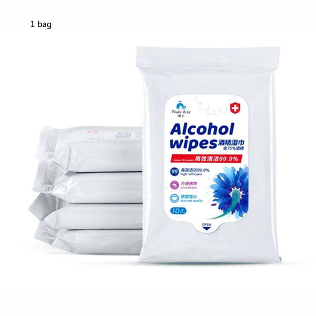 75% Alcohol Wipes Disposable Alcohol Wipes Hospital Alcohol Disinfection Piece Portable Alcohol Pads