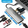 Ventie USB-C Hub Type C Hub Usb 3.0 Thunderbolt 3 Hdmi 3.5Mm Audio RJ45 Adapter Voor Macbook Pro samsung Galaxy S9 Usb C Hub