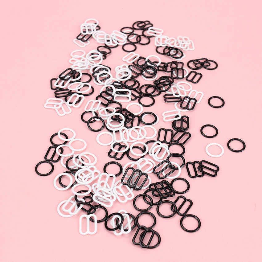 10 סטים\חבילה (20 Pcs) מתכת הלבשה תחתונה מתכוונן תפירה מחווני חזייה טבעות אבזמי DIY מחווני רצועת שמאי אבזמים