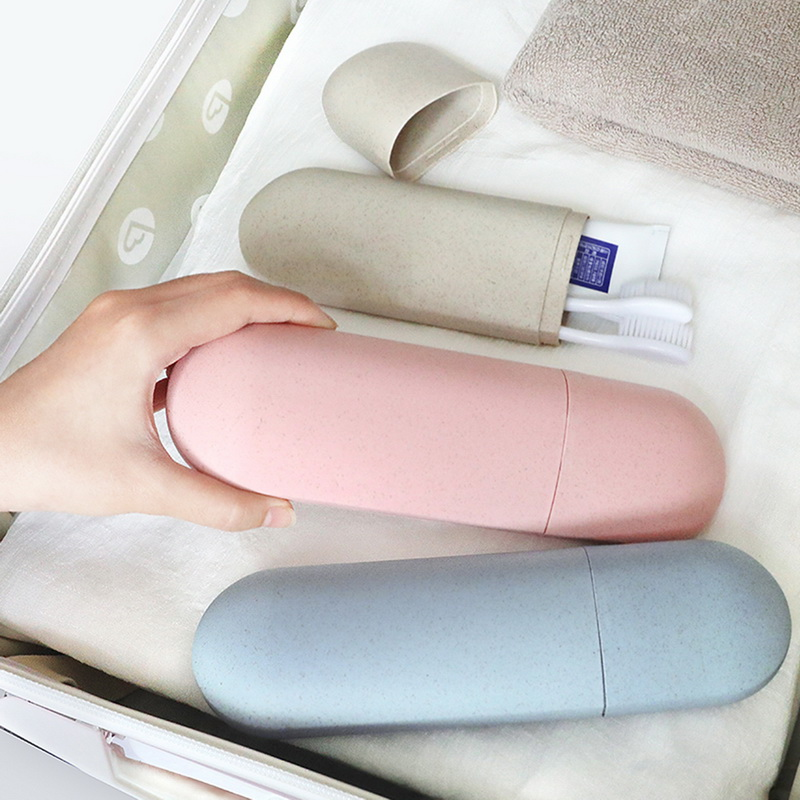 Portable Toothbrush Case Hiking Camping Protect Storage Box Travel Tooth Toothbrush Cover Toothpaste Organizer Toothbrush Holder image