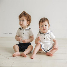 Baby Romper Newborn Sailor Baby Costume Brother Sister Match