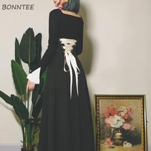 Spódnice damskie Design klasyczna kobieca unikatowa estetyczna na wszystkie mecze Temperament oryginalna odzież sznurowana jednokolorowa klasyczna naturalna czerń