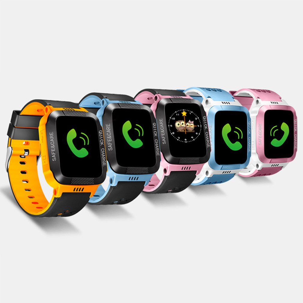 Y21S Smart Bracelet With Camera Flashlight Touch Screen Smart Watch SOS Phone Call GPS Tracker SIM Children Watches