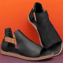 Zapatos de mujer 2020 gran oferta de verano sandalias de punta plana Retro Vintage para mujer