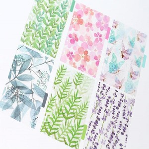 6 Sheet/Sets New A5 A6 A7 PP Board Divider Index Notebook Planner's Inner Pages Diary Refills Spiral 6 Holes Colorful Separator