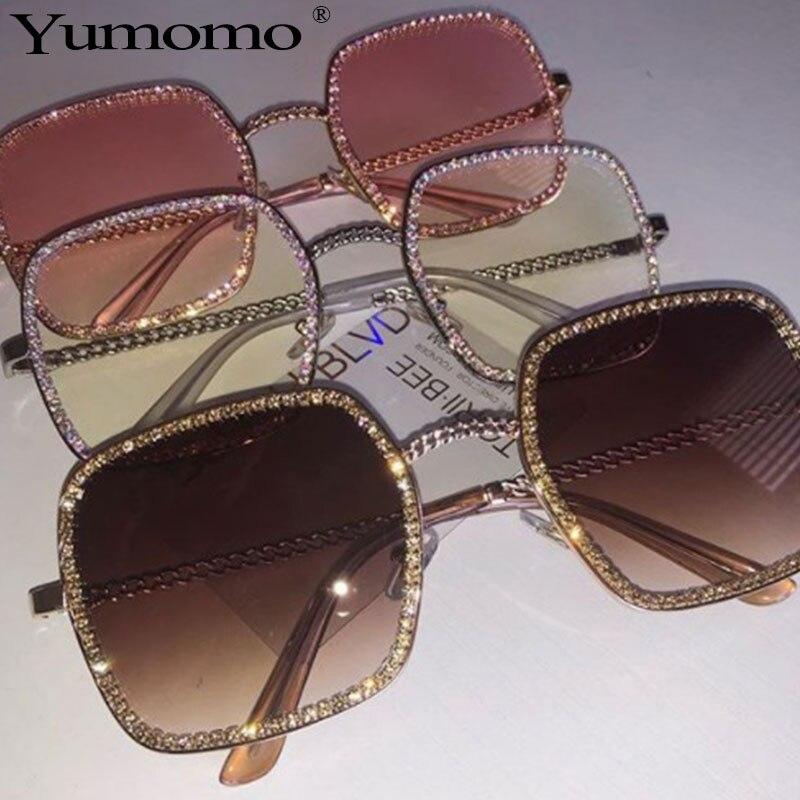 2019 New Metal Square Flat Light Mirror Sunglasses Women Round Face Lady Sun Glasses Vintage Big Frame Female Sunglasses