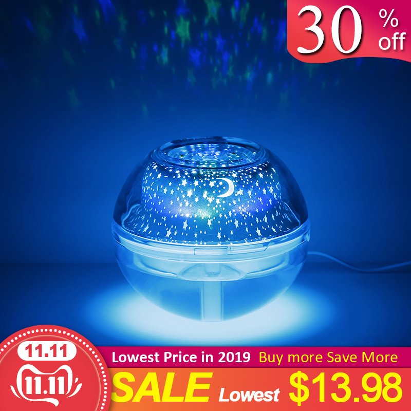 500ML Ball Humidifier With Aroma Lamp Essential Oil Ultrasonic Electric Aroma Diffuser Mini USB Air Humidifier Fogger