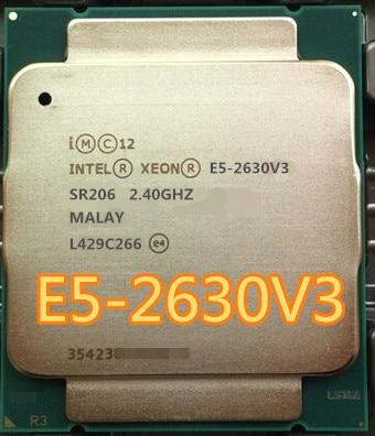 Процессор Intel Xeon E5 2630 V3, 8 ядер, 2,40 ГГц, 20 МБ кэш-памяти, процессор V3 DDR4, FSB 1866 МГц, Вт, E5 2630V3, память с разъемом на МГц, процессор E5 2630V3, процессор с ...