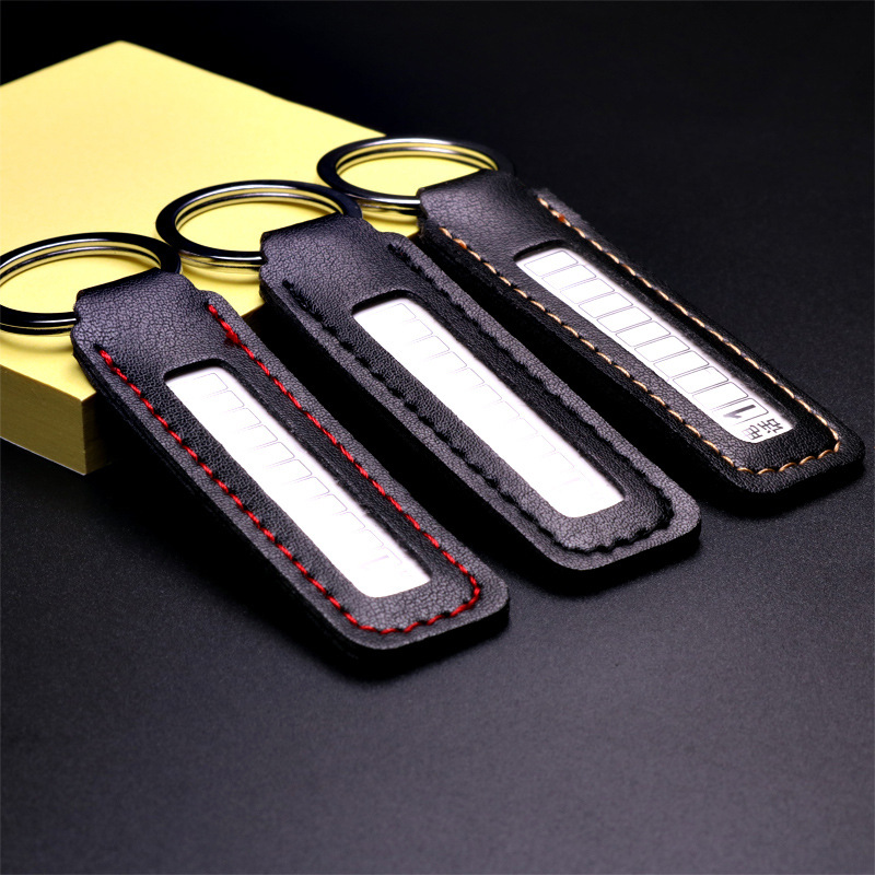 Anti-lost Mobile Number Keychain Car Key Ring Phone Number Card Key Chain Party Gift Jewelry 3053