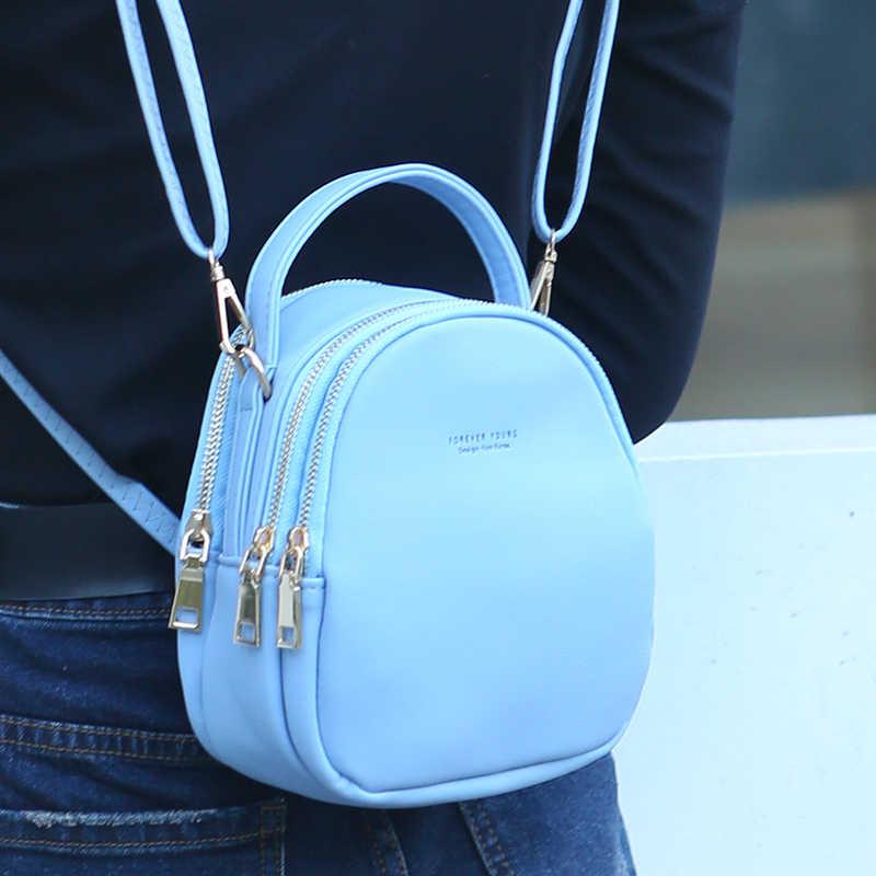 Mini sırt çantası kadın kore tarzı pu deri omuz çantası çok fonksiyonlu büyük kapasiteli bayanlar sırt çantaları fabrika doğrudan satış