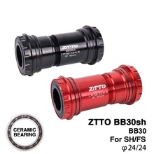 MTB Road bike BB30sh Bottom Brackets CERAMIC BB30 24mm Adapter bicycle Press Fit Axle bearing Dual silicone seal ztto bb30sh bb30 ceramic press fit bottom bracket for shimano fsa prowheel