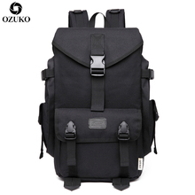 OZUKO Large Capacity Travel Backpacks Men's 15.6 Inch Laptop Computer Backpack Casual  School Bags Rucksack Travel Bolsa Mochila