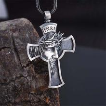 Винтажная Классическая Корона шипы Иисус крест ожерелье мужское