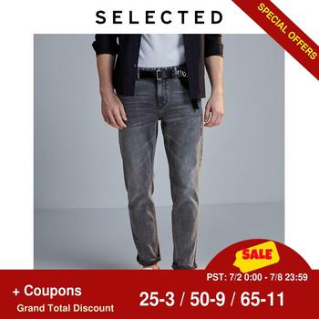 SELECTED Men's Slim Fit Stretch Cotton Grey Jeans LAB|419432513