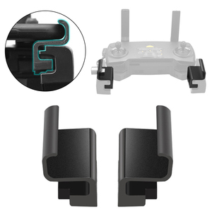 Image 2 - 2pcs Left Right Drone Remote Control Phone Holder Clip Mount Widen Easy Install RC Parts Stand Bracket ABS For Mavic 2 PRO