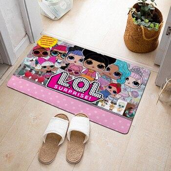 LOL Surprise Dolls Flannel Carpet Cartoon Anime printing Pattern Living Room Bedroom Floor Decoration Bathroom Mat Door Mat 2B24 symmetrical pattern door mat