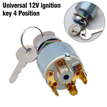 цена на DC 12V  2 Keys Universal Ignition Switch Car Boat Motorcycle Classic Kit Ignition Switch Electric Door Lock Key Switch