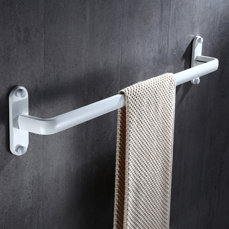 Tuqiu Towel Holder, Towel Rack,Towel Rail,Towel Bar 60 CM Nail Free White Aluminum Bathroom Accessories Towel Rail