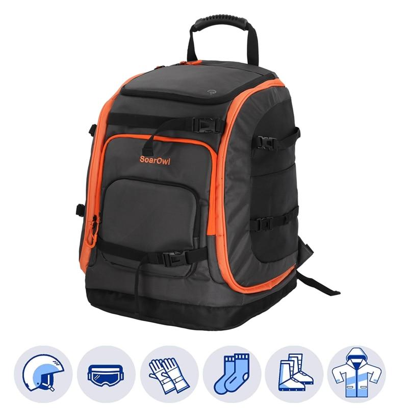 Сумка для лыжных ботинок SolarOwl, 50 л, вместительная сумка для хранения ботинок, шлем, можно разместить на лыжах, рюкзак с регулируемой водонепроницаемостью Лыжные сумки    АлиЭкспресс