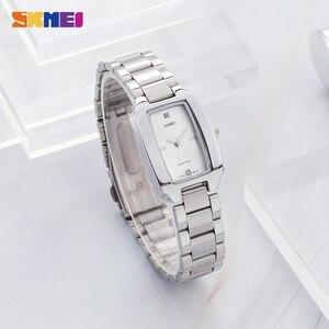 Image 5 - 2020 SKMEI mode femmes fille montre à Quartz de luxe diamant cadran Bracelet dames femme montre Bracelet élégant Relogio Feminino 1400