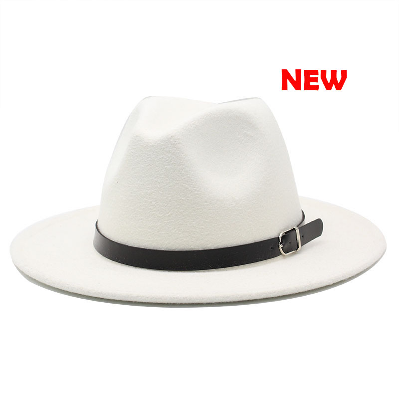 Classic British Fedora Hat Men Women Imitation Woolen Winter Felt Hats Fashion Jazz Hat Chapeau Wholesale 18