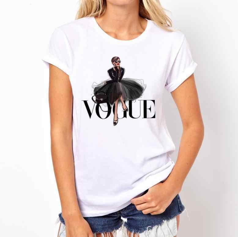 2019 Mới Thời Trang Nữ Châu Âu Và Mỹ Áo Thun Nữ Quần Ngắn Phổ Biến Lỏng Lẻo Và Bông Tai Kẹp T áo Sơ Mi