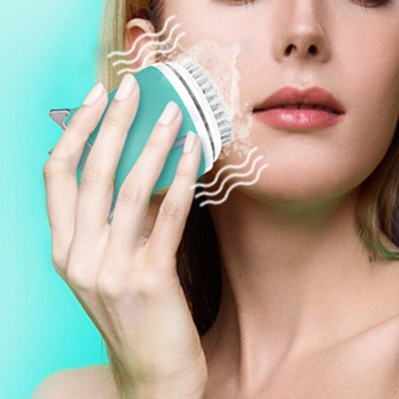 Очищающая щетка для лица для отшелушивания, электронная Очищающая щетка для лица с 3 режимами, умный таймер и мягкая щетина, Waterproo - 6
