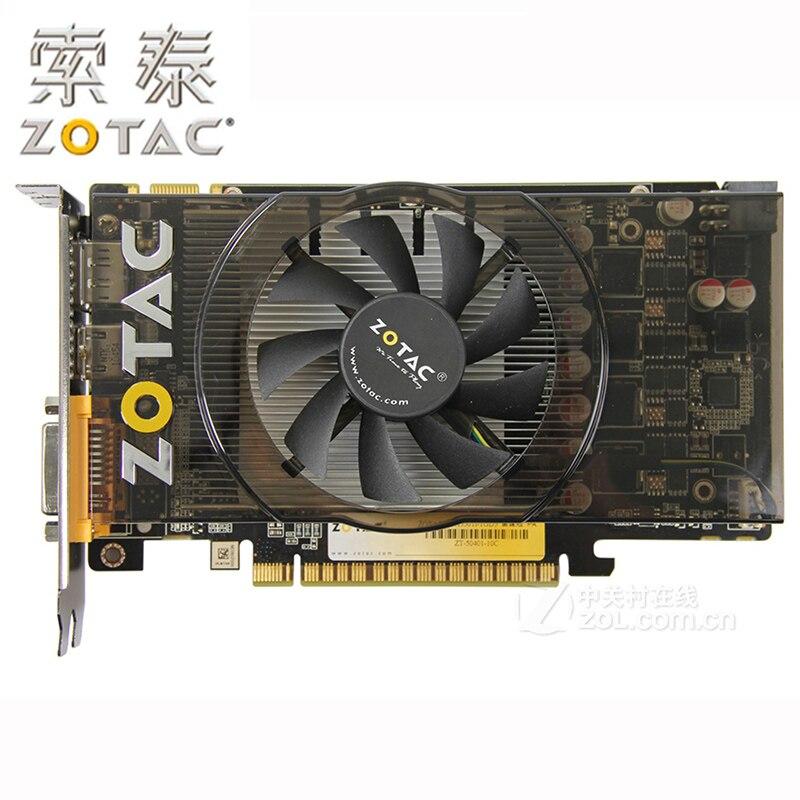 100% ZOTAC-tarjeta gráfica GeForce GTX550Ti-1GD5 GDDR5 192Bit, para nVIDIA GTX 500 Map GTX 550 Ti 1GD5 Dvi VGA usada