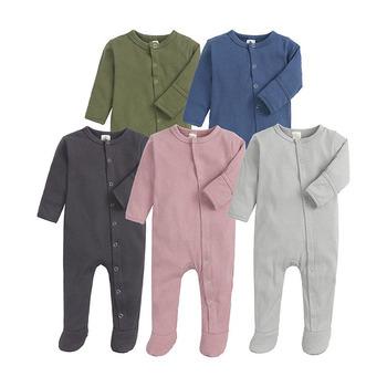 Nowonarodzone bawełniane śpioszki dla niemowląt śpiące i bawiące się jesienno-zimowe kombinezony dla niemowląt z pełnym rękawem dziewczęce chłopięce kolory najniższe ubrania tanie i dobre opinie NoEnName_Null CN (pochodzenie) W wieku 0-6m 7-12m 13-24m Unisex 0-3 miesięcy Dzieci w wieku 4-6 miesięcy 7-9 miesięcy