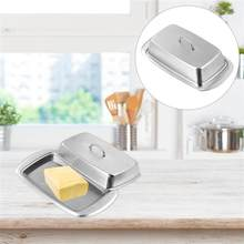 1 Pc Multipurpose Fresh Keeping Box Safe Butter Dish Storage Box Butter Plate With Lid (Silver)