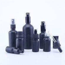 5ml 10ml 15ml 20ml 30ML Black Glass Bottle With Dropper for essential oil, 50ml 100ml Matt Black Perfume bottles clinique 5ml 15ml