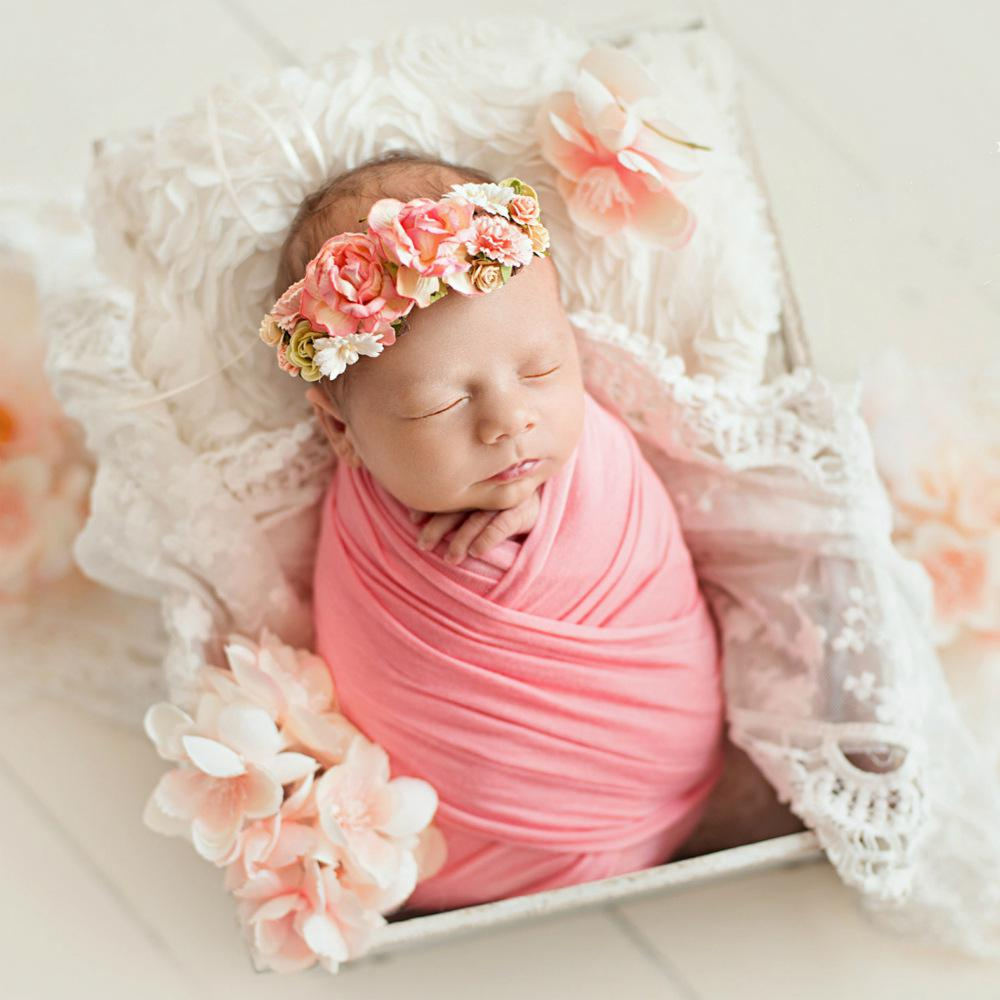 Kuulee Photography Wrap Super Soft Stretch Newborn Blanket Baby Photo Shooting Props Newborn Swaddle Photography Accessories