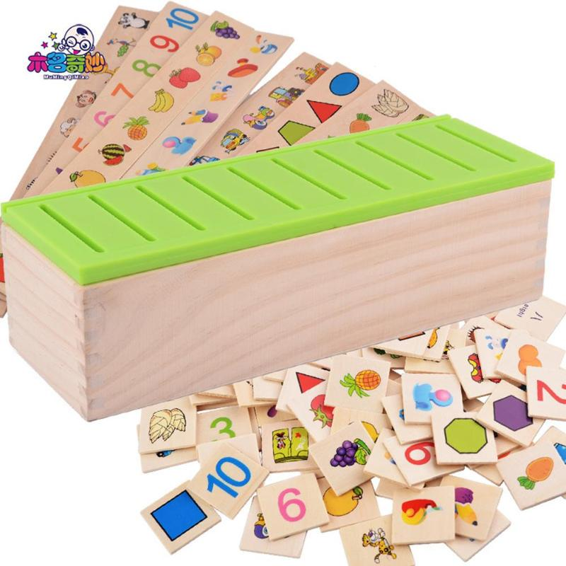 Mathematical Knowledge Classification Toy Child Early Educational Wood Box